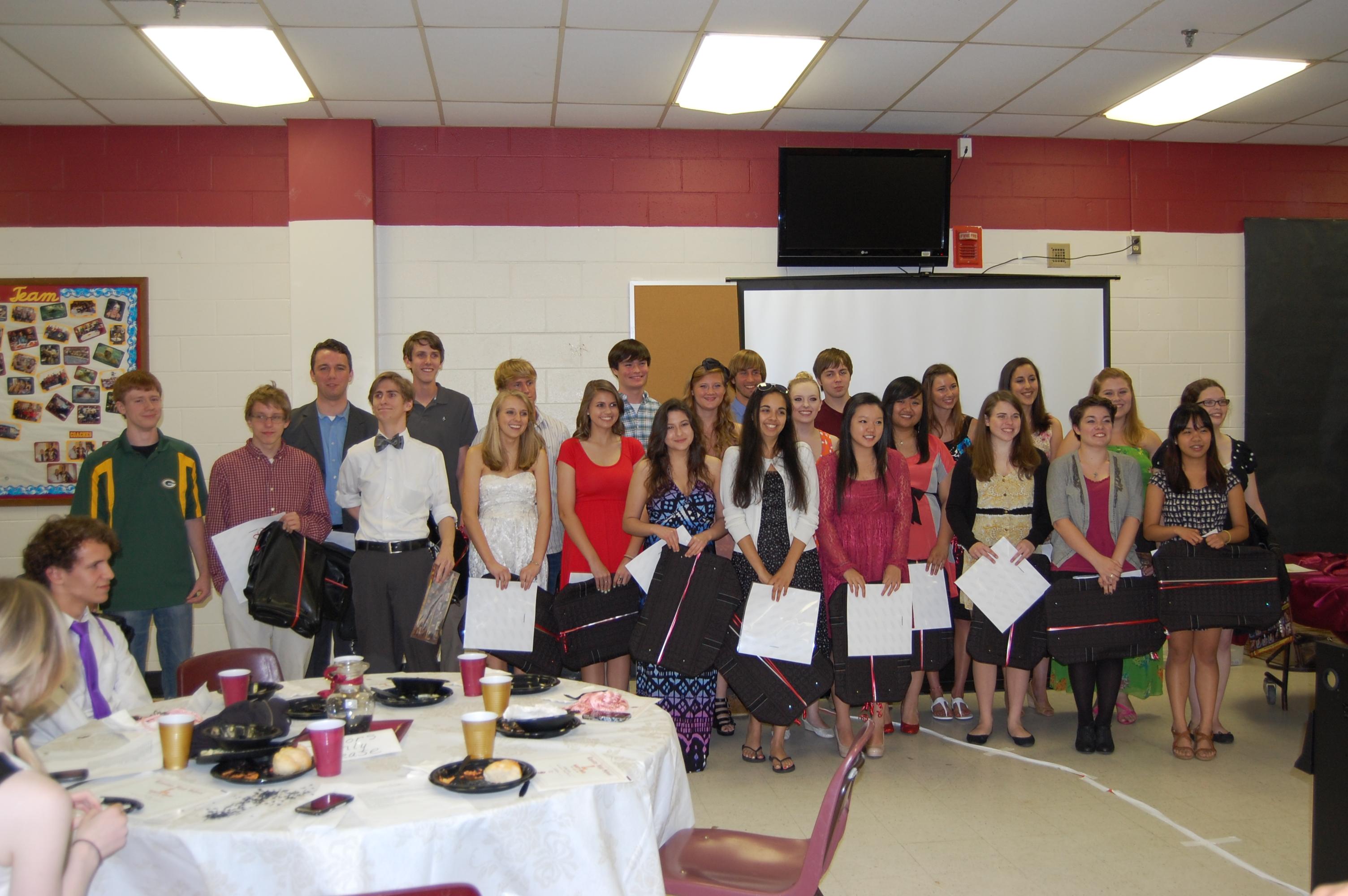 Seniors at Banquet