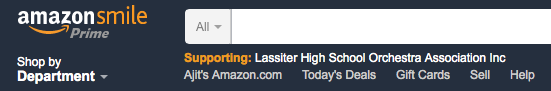 Amazon Smile verification